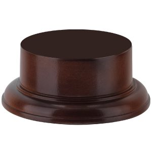 Solid Mahogany Wood Cup Base