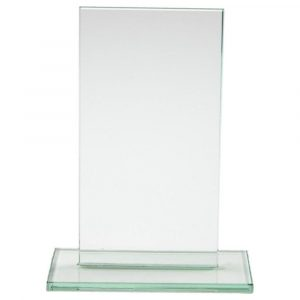 A value for money glass plaque to suite any organisation looking for a quality yet less expensive trophy engraved with your requirements.
