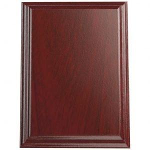 Mahogany Coloured Blank Plaque Shield