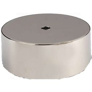 Silver Nickel Plated Straight Sided Covered Plinth Band