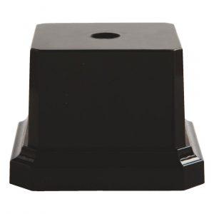 Heavy Square Black Pedestal Base