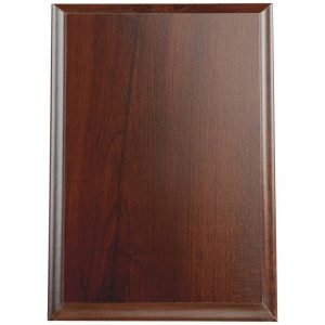 Cherry Finish Colour Foiled Wood Blank Plaque