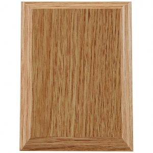 Light Oak Finish Wood Blank Plaque