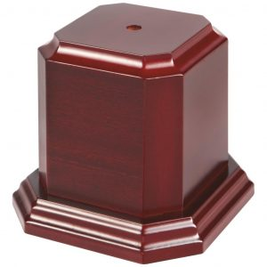 Rosewood Coloured Tall Wood Cup Base
