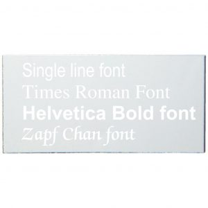 Aluminium self adhesive engraving plate. Various sizes available and engraving can be added