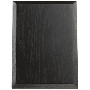 Black Finish Rectangular Wood Plaque