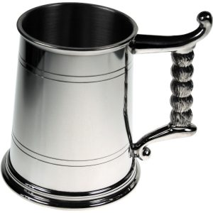 Rope Handle Pewter Tankard. Above all a time tested way to commemorate any thank you, event or accolade.