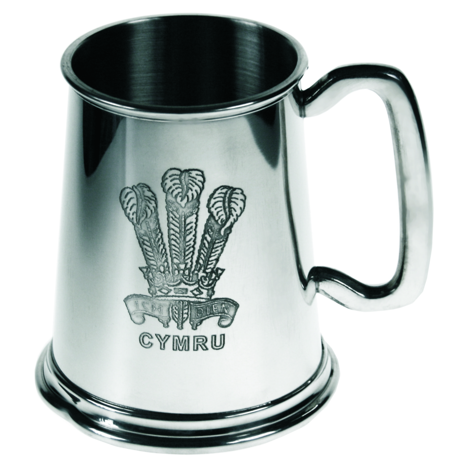 Welsh Feathers Pewter Tankard. Would make the ideal recognition or achievement award. A gift for anything Irish. Personalsied engraving available.