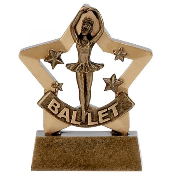 Mini Stars Ballet Dancing Trophy 8cms