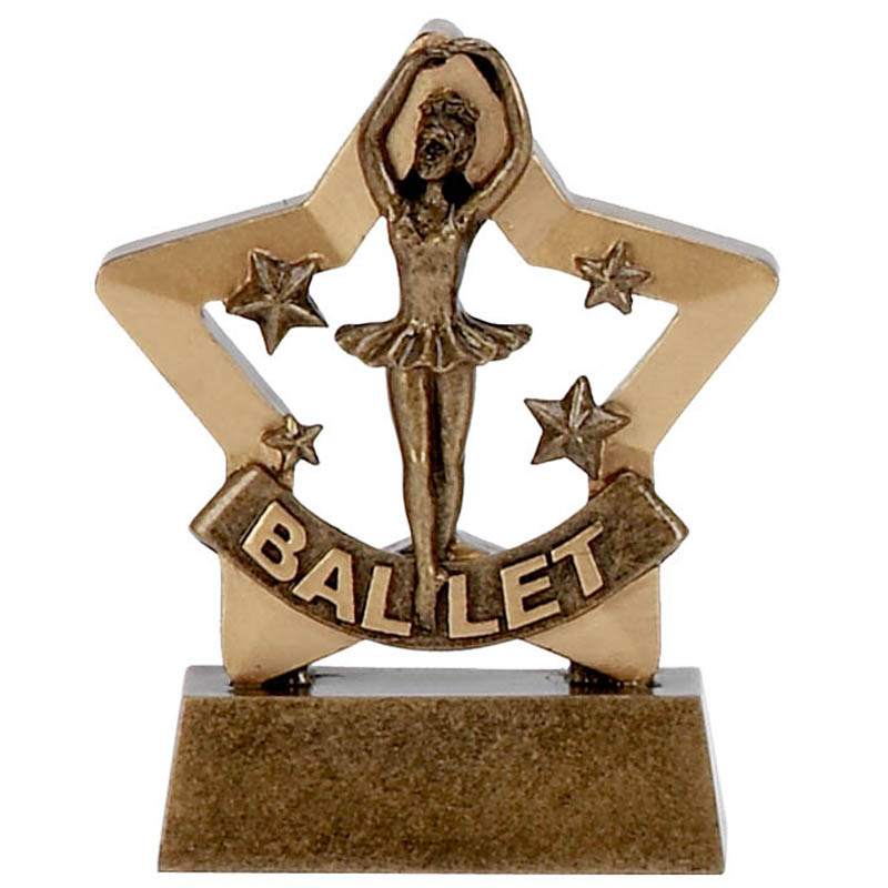 Mini Stars Ballet Dancing Trophy 8cms