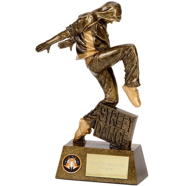Fine Detailed Street Dancer Trophy