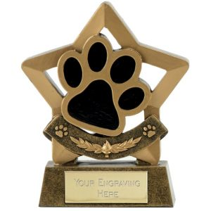 Quality Resin Paw Trophy 14cms