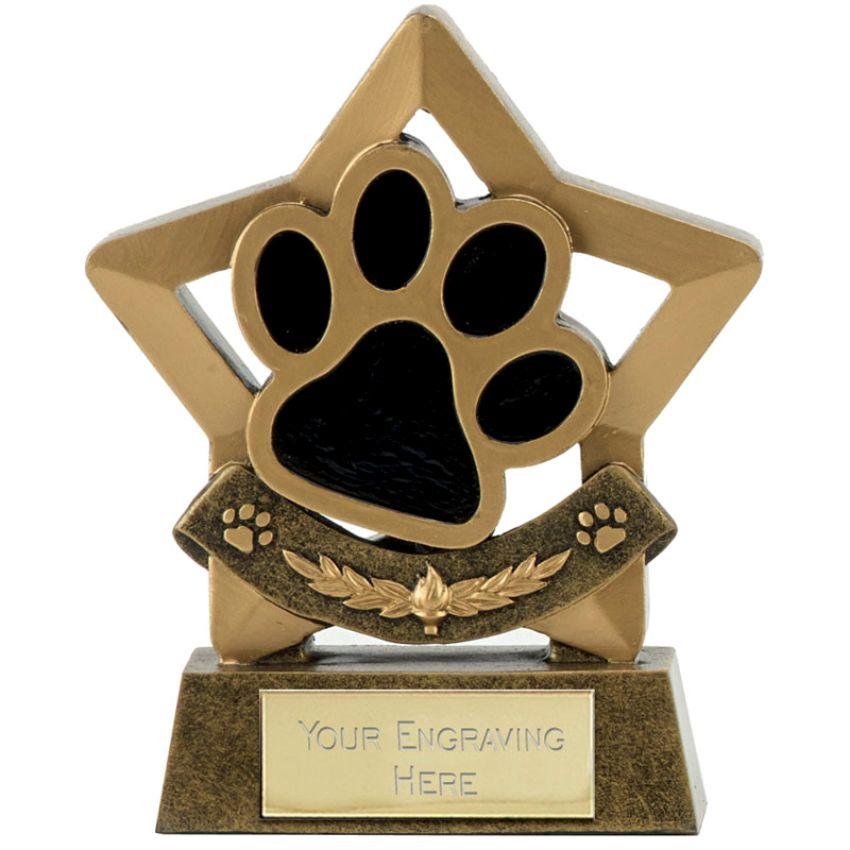 Quality Resin Paw Trophy 14cms