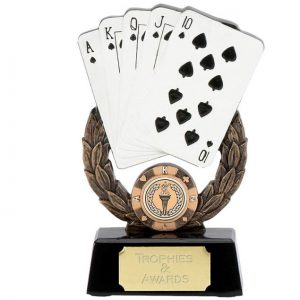 Hand of Cards Wreath Trophy