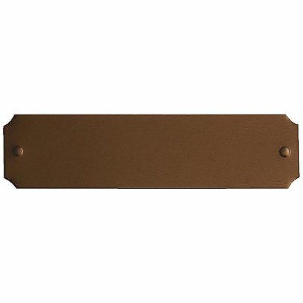 Scalloped corner bronze engraving plate