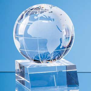 Global Glass Award. A great choice for anyone looking for a recognition award, incentive or gift related to global business or travel.