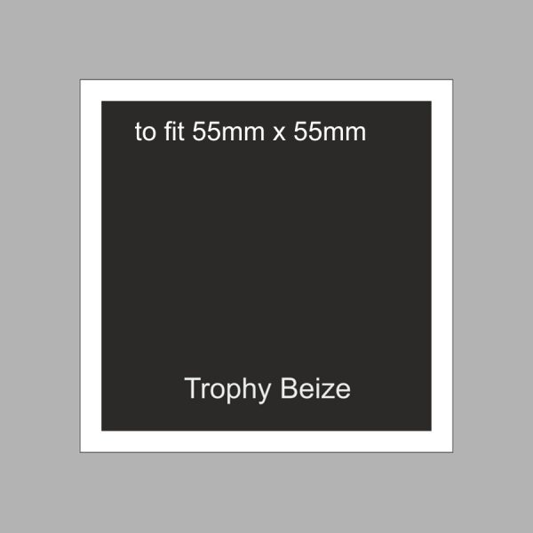 Trophy Beize Self-Adhesive Backed 55mm x 55mm