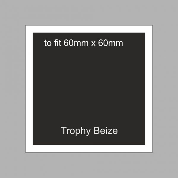 Trophy Beize Self-Adhesive Backed 60mm x 60mm