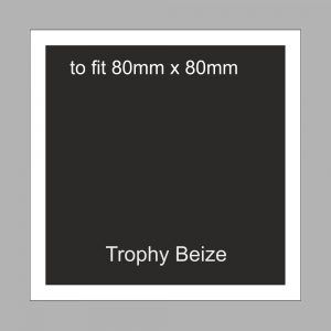 Trophy Beize Self-Adhesive Backed 80mm x 80mm