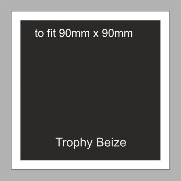 Trophy Beize Self-Adhesive Backed 90mm x 90mm