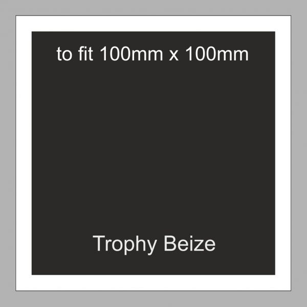 Trophy Beize Self-Adhesive Backed 100mm x 100mm