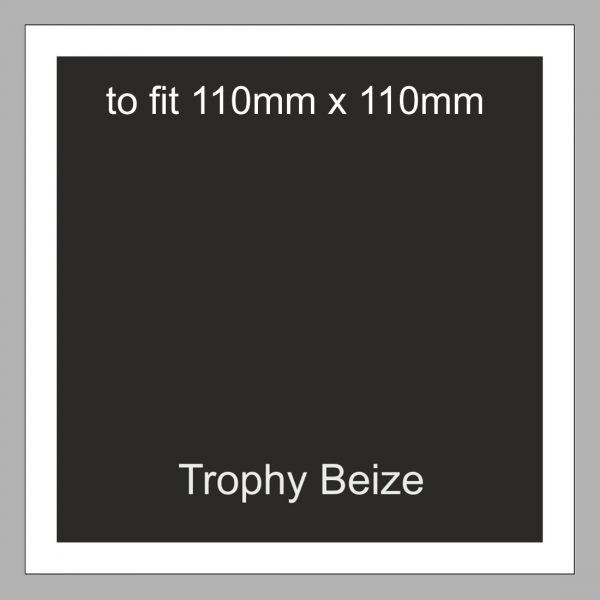 Trophy Beize Self-Adhesive Backed 110mm x 110mm