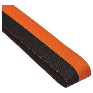 black and orange medal ribbon
