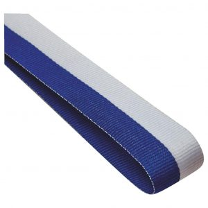 blue and white medal ribbon
