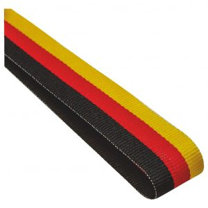 black, red and yellow medal ribbon