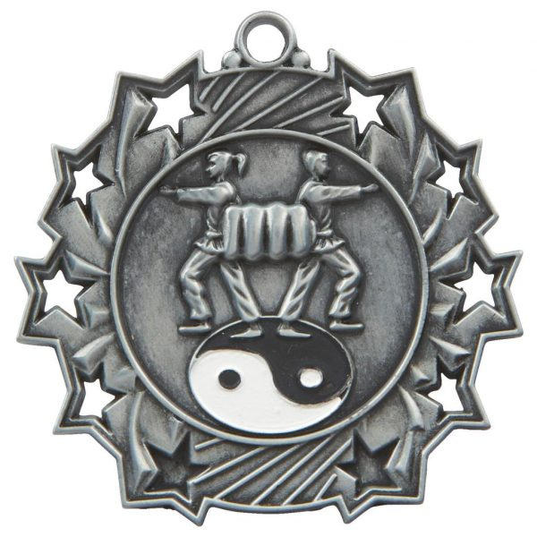 silver martial arts medal