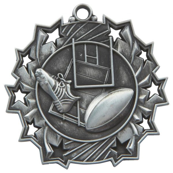 silver rugby medal