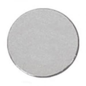 Circular Disc Silver Coloured Engraving Plate