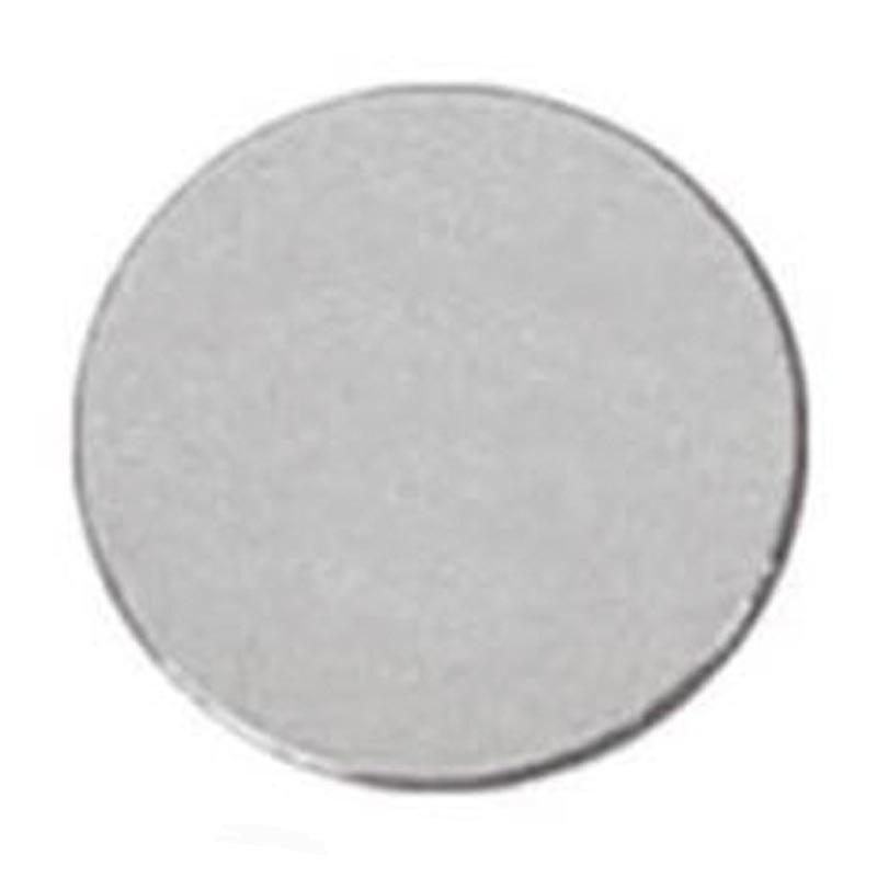 Circular Disc Silver Coloured Engraving Plate