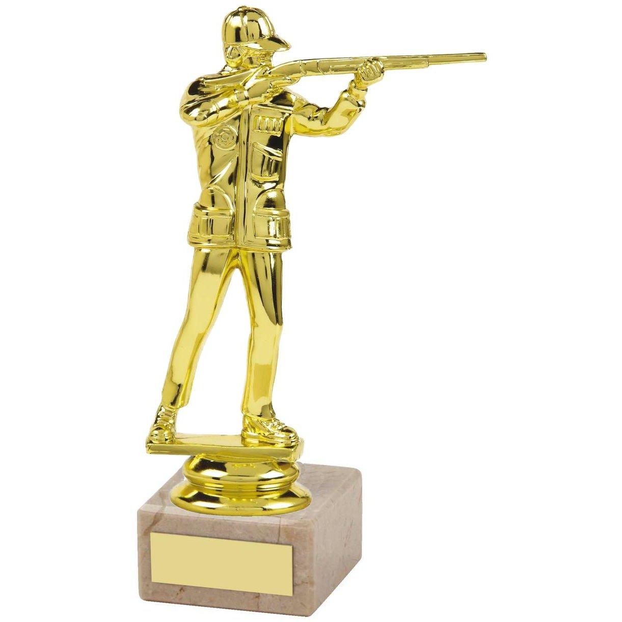 gold figure shooting trophy