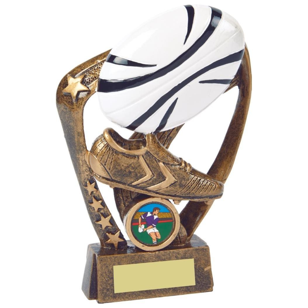 gold multi star  trophy resin RS496