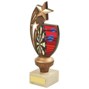 Darts Stars Trophy 21cms. Ideal for any darts player and great for any darts match, individual winners and runners up