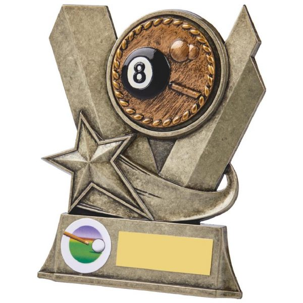 Eight Ball Pool Metal Alloy Trophy 13cms