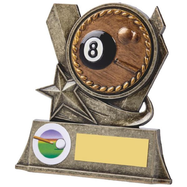 Eight Ball Pool Metal Alloy Trophy 10cms