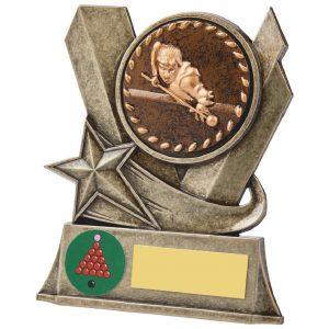 Snooker Metal Alloy Trophy 11.5cms