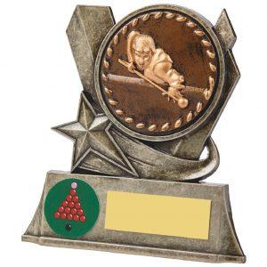Snooker Metal Alloy Trophy 10cms