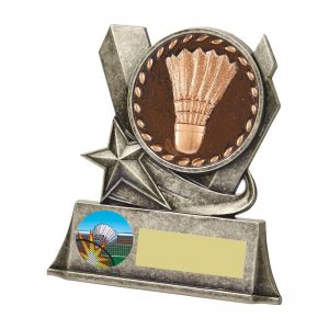 Buy now. Quality Badminton Trophy 10cms. Ideal for most achievements within badminton. Great for doubles winners and runners up.