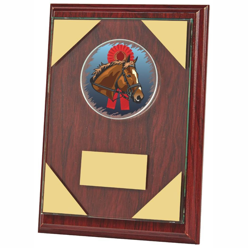 Rosewood Coloured Horse Plaque