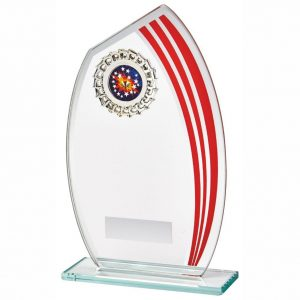 Glass MultiSports Trophy 19cms