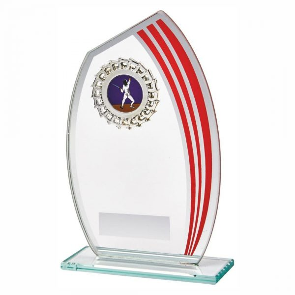 Glass MultiSports Trophy 17cms