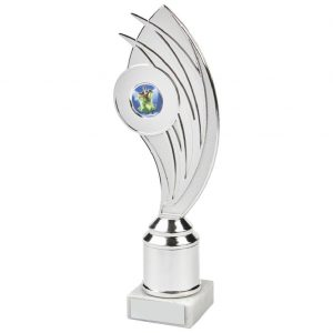 Budget Holder Chrome Trophy 24cms