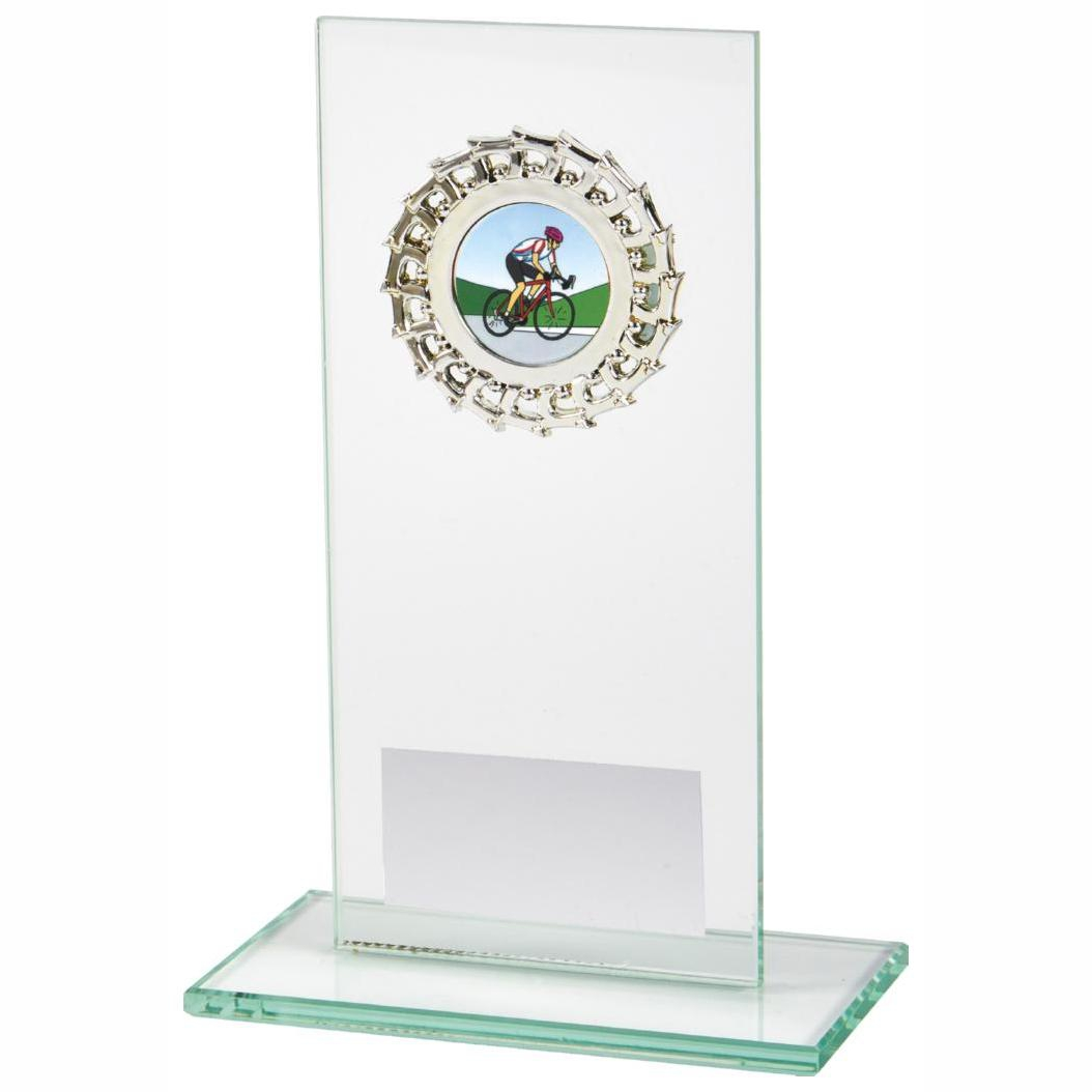 Budget Priced Glass Sports Trophy 16cms tall