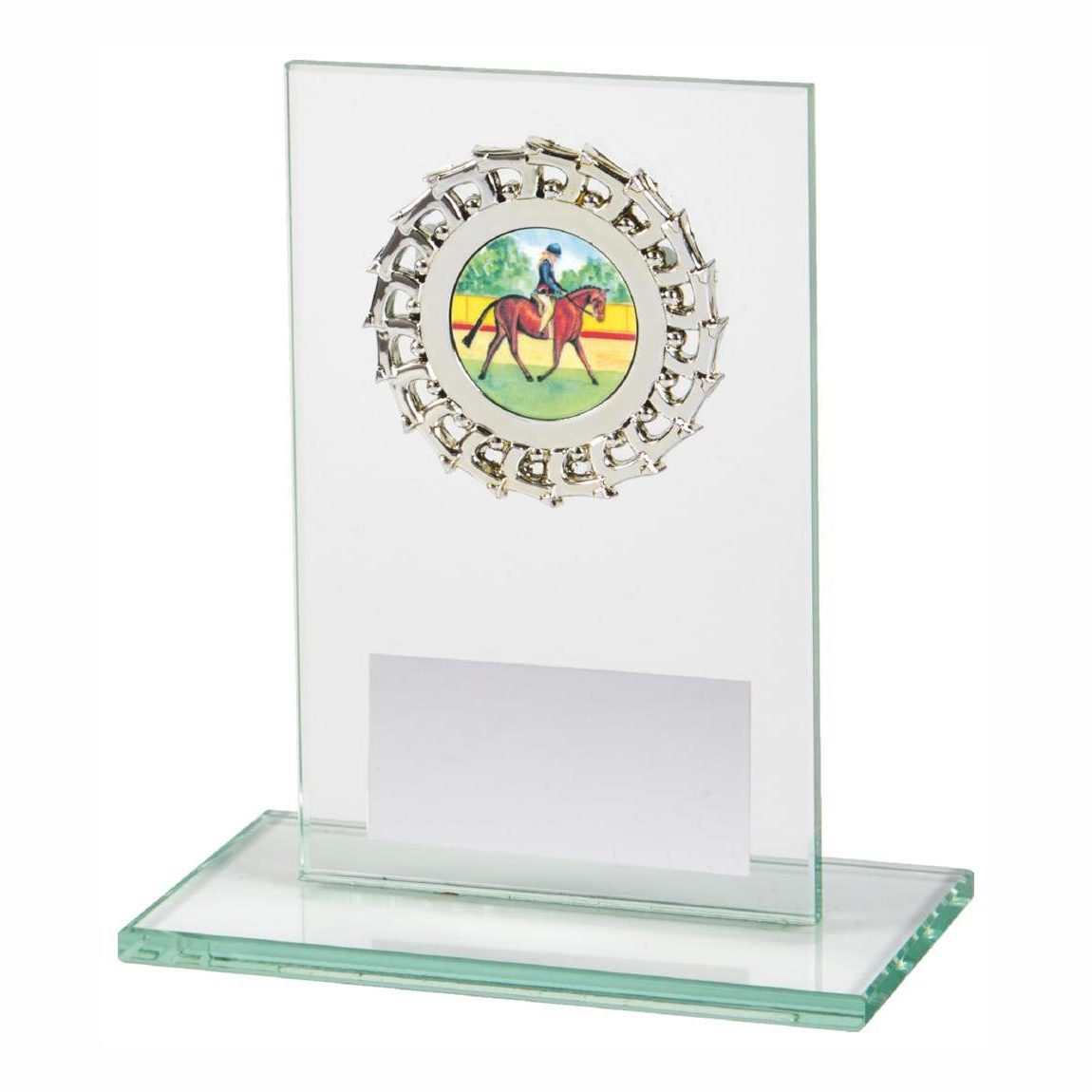 Budget Priced Glass Sports Trophy 12cms tall