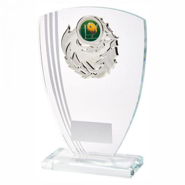 Glass Rugby Trophy 19cms