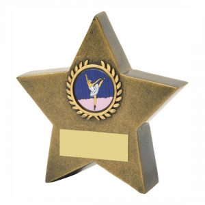 Star Shaped Achievement Trophy 10cms tall