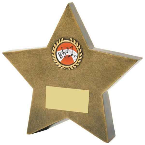 Star Music Trophy 15cms